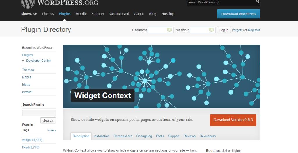 Как создать портфолио в WordPress - плагин WP Widget Contex
