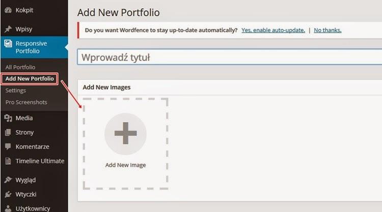 Как создать портфолио в WordPress - добавление нового - фото