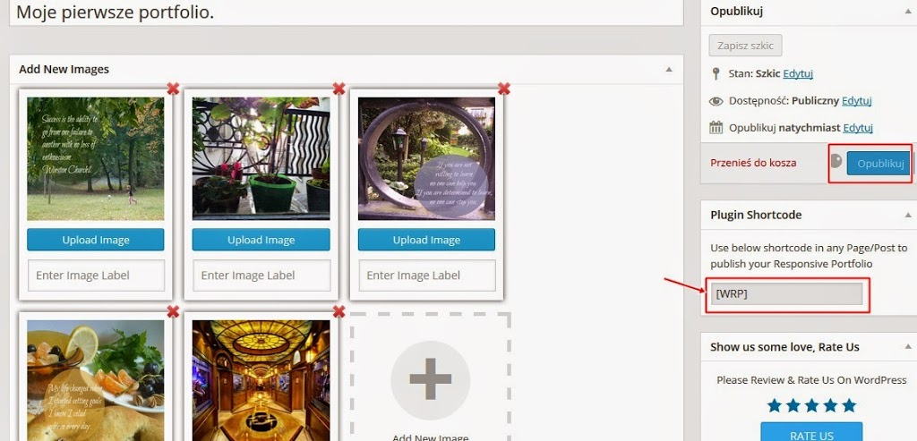Как создать портфолио в WordPress - шорткод портфолио - фото